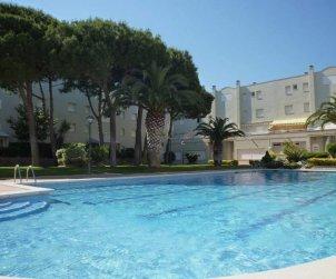 Apartamento  en L'Escala  para 7 personas con piscina compartida y TV  p1