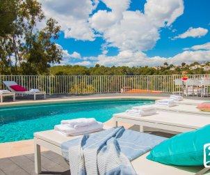 Villa  en Moraira  para 8 personas con piscina privada, vistas al mar y aire acondicionado  p1