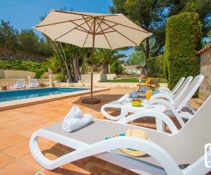 Villa  en Moraira  para 6 personas con piscina privada, aire acondicionado y cerca del mar  p1