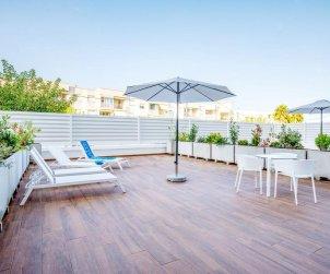 Apartamento  en Alcossebre  para 5 personas en complejo hotelero con piscina comunitaria, gran terraza frente al mar  p1