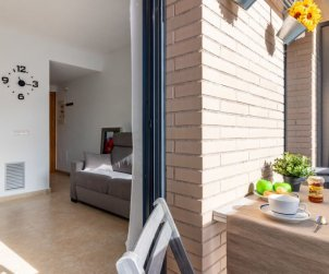 Apartamento   Rosas para 5 personas con piscina comunitaria p1