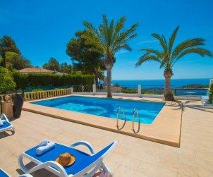 Villa   Benissa para 15 personas con piscina privada, vista mar y Wifi p0