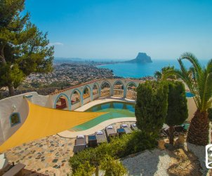 Villa   Calpe para 8 personas con piscina privada, aere acondicionado y vista mar p0